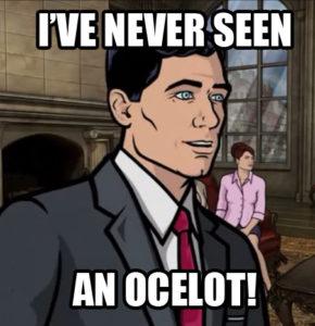 Archer - I\'ve never seen an ocelot meme