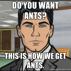 Archer - That\'s how you get ants meme